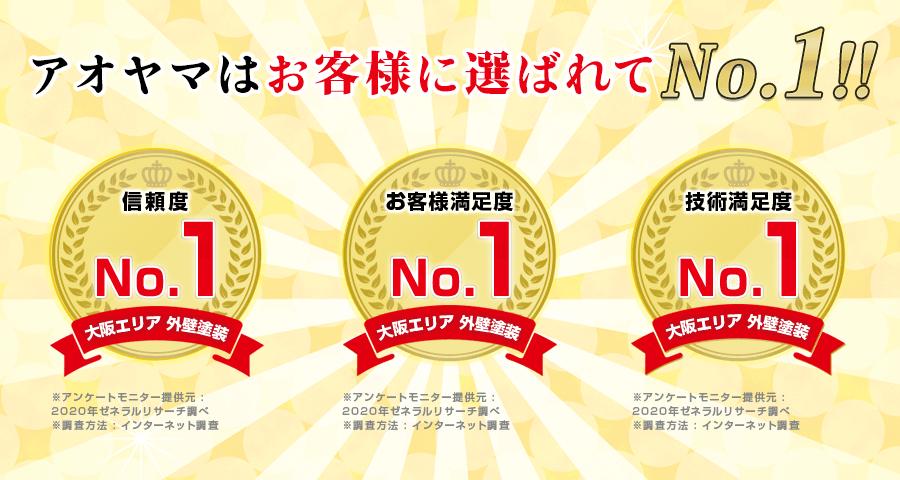 アオヤマはお客様に選ばれてNo.1