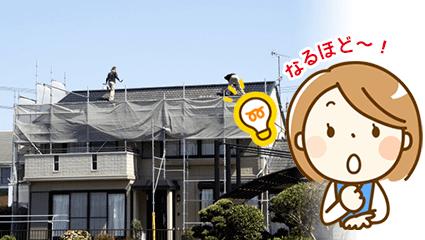 屋根工事などに必須の足場工事