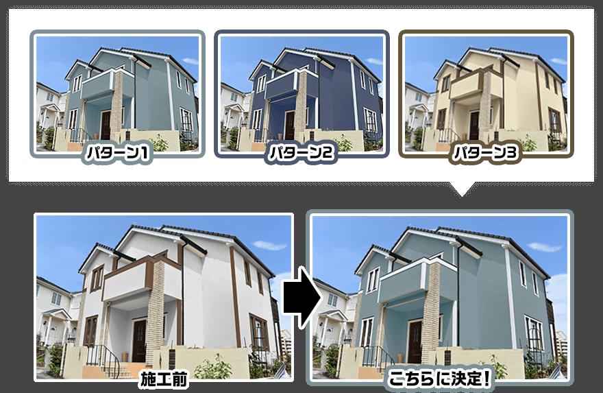 カラーシミュレーションソフトサンプル